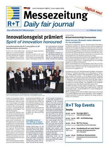 Die Sieger (1) / Innovation prize 2009 - FH Kleffmann Verlag GmbH ...