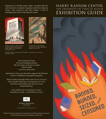 Exhibition guide - Harry Ransom Center - The University of Texas at ...