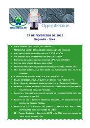 27 DE FEVEREIRO DE 2012 Segunda - feira - Sindimetal/PR