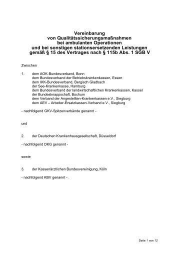Vereinbarung von Qualitätssicherungsmaßnahmen - ECQMed