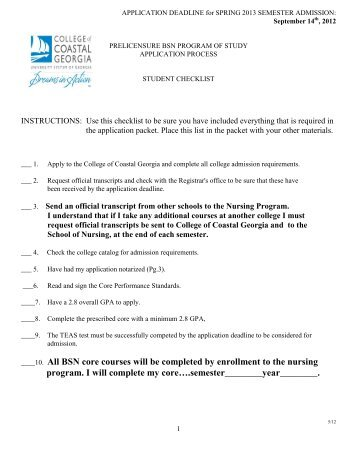 BSN core courses will be completed by enrollment - The College of ...