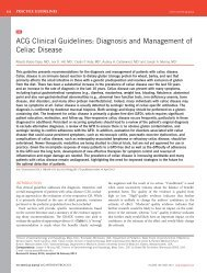 ACG Clinical Guidelines: Diagnosis and Management of Celiac ...