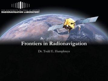 Frontiers in Radionavigation
