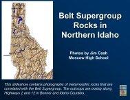 Belt Supergroup Rocks in Northern Idaho