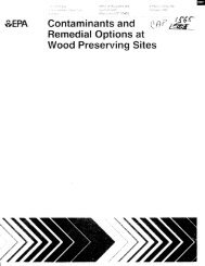 Contaminants and Remedial Options at Wood Preserving ... - CLU-IN