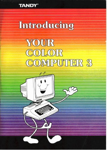 Introducing Your Color Computer 3 (Tandy).pdf - TRS-80 Color ...