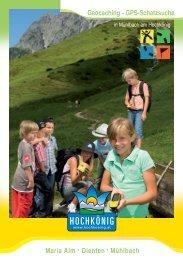 Geocaching - GPS-Schatzsuche Maria Alm ·Dienten ... - Hochkoenig