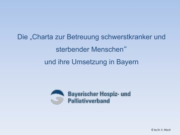 Die Charta in Bayern - End-Of-Life-Care