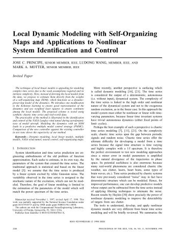 Local Dynamic Modeling With Self-organizing Maps And Applications