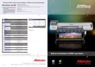 Mimaki JV400 LX adatlap