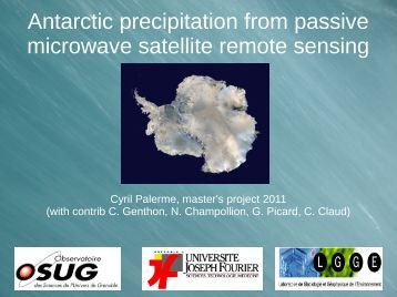 Antarctic precipitation from passive microwave ... - Antarctic Projects