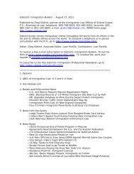 Siskind's Immigration Bulletin – August 17, 2011 ... - Siskind, Susser