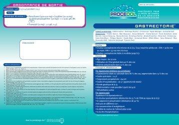 Procedol : Gastrotectomie - Institut upsa de la douleur