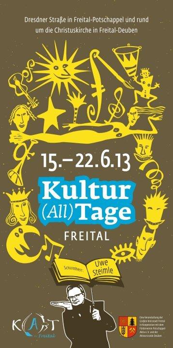 Freitaler Kultur(all)tage 2013 - Sächsisches Elbland