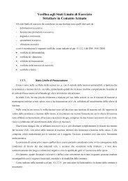 Verifica agli Stati Limite di Esercizio Strutture in Cemento Armato