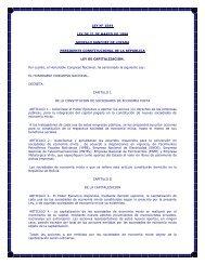 ley n° 1544 ley de 21 de marzo de 1994 gonzalo sanchez de lozada ...