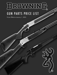 GUN PARTS PRICE LIST - Browning