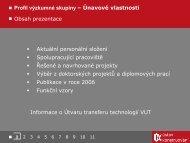 Prezentace v PDF - Ústav Konstruování