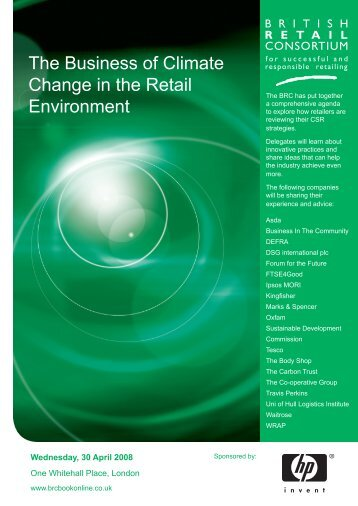 The Business of Climate Change in the Retail Environment