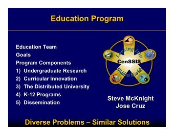 Education Program - CenSSIS