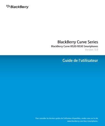 BlackBerry Curve Series - 5.0 - Guide de l'utilisateur