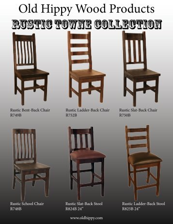 Old Hippy Wood Products RUSTIC TOWNE COLLECTION