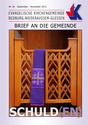 November 2012 - Evangelisch in Bedburg