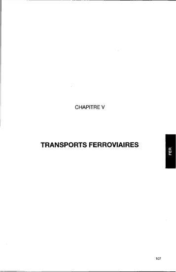5. transports ferroviaires : s.n.c.f - Temis