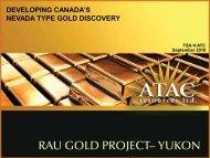 The Yukon Gold Rush-ATAC resources 1