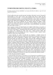 I PRI CIPIO DIO CREÒ IL CIELO E LA TERRA - Liceomanara.it