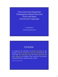 Perencanaan dan Pengelolaan Pembangunan Industri Pariwisata ...