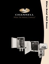 Rhino Metal Wall Boxes - Channell Commercial Corporation