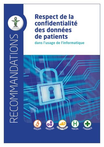 Guide Confidentialité - Ordre National des Pharmaciens