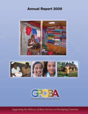 Annual Report 2009 - GPOBA