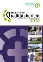 Strukturierter Qualitätsbericht 2010 des St. Marien-Krankenhaus ...