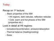 HII regions slides
