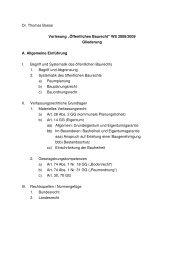 Öffentliches Baurecht - Öffentliches Recht IV