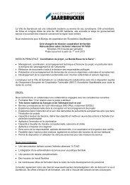 La Bande Bleue de la Sarre - Offre d'emploi - Eurodistrict SaarMoselle