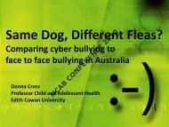 Same Dog, Different Fleas? - National Centre Against Bullying