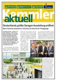 Deutschlands größte Garagen-Ausstellung eröffnet - Beton Kemmler ...