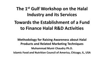 Methodology for Raising Awareness about Halal ... - AzkaHalal