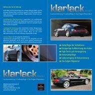 Unser Flyer zum Download - klarlack GmbH