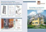 Aluminium-Fensterläden - Wanger GmbH