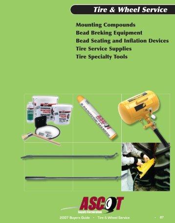 Download the Tire & Wheel Service catalog. (PDF)