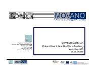 MOVANO bei Bosch Robert Bosch GmbH – Werk Bamberg - INDINA