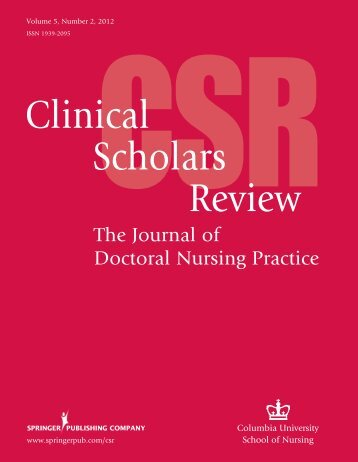 Clinical Scholars Review - Columbia University School of Nursing