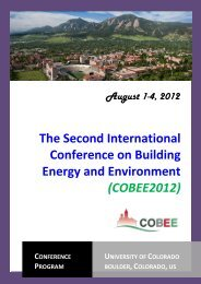 COBEE2012 - University of Colorado Boulder