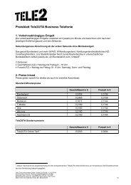 Preisblatt Tele2uta Business Telefonie