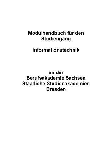 5 Bachelor 2010 Modulhandbuch - BA-Dresden