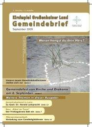 Gemeindebrief - Kirchspiel Großenhainer Land